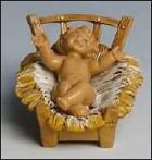 Fontanini 110 014 - Jesus in Krippe zu 11cm tipo legno