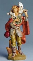 Fontanini 170 515 - Junge mit Schaf zu 17cm tipo legno