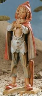 Fontanini 170 517 - Junge mit Flöte zu 17cm tipo legno