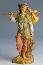 Fontanini 170 519 - Junge mit Bündel zu 17cm tipo legno