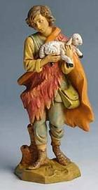 Fontanini 170 521 - Junge mit Lamm zu 17cm tipo legno