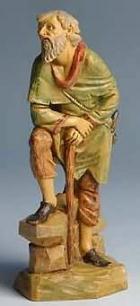 Fontanini 170 520 - Alter Mann mit Stock zu 17cm tipo legno