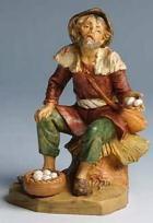 Fontanini 170 522 - Hirt mit Eierkorb zu 17cm tipo legno