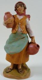 Fontanini 095 919 - Frau mit Amphoren zu 9,5cm tipo legno