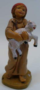 Fontanini 095 921 - Junge mit Lamm zu 9,5cm tipo legno