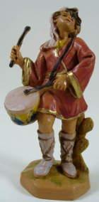 Fontanini 095 987 - Junge mit Trommel zu 9,5cm tipo legno