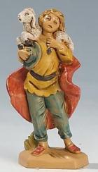 Fontanini 065 09 - Hirt mit Schulterschaf zu 6,5cm tipo legno