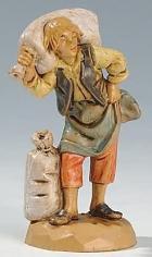 Fontanini 065 13 - Mann mit Säcken zu 6,5cm tipo legno