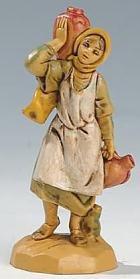 Fontanini 065 16 - Frau mit Krügen zu 6,5cm tipo legno