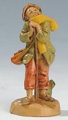 Fontanini 065 17 - Hirt auf Stock lehnend zu 6,5cm tipo legno