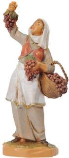 Fontanini 065 48 - Frau mit Trauben zu 6,5cm tipo legno