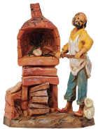 Fontanini 065 71 - Bäcker zu 6,5cm tipo legno