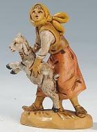 Fontanini 065 21 - Frau mit Ziege zu 6,5cm tipo legno