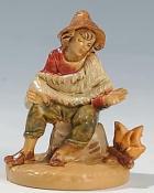 Fontanini 065 31 - Mann sitzend zu 6,5cm tipo legno