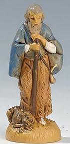 Fontanini 065 36 - Hirt mit Stab und Hund zu 6,5cm tipo legno
