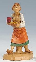 Fontanini 065 37 - Frau mit Becher zu 6,5cm tipo legno