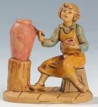 Fontanini 065 41 - Töpfer zu 6,5cm tipo legno