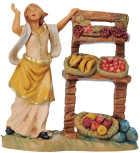 Fontanini 065 72 - Frau am Obststand zu 6,5cm tipo legno