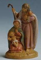 Fontanini 065 399 - Familiengruppe zu 6,5cm tipo legno