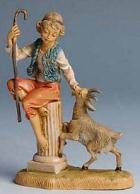 Fontanini 100 203 - Hirt auf Säule zu 10cm tipo legno