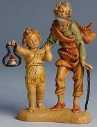 Fontanini 100 244 - Opa mit Kind zu 10cm tipo legno