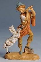 Fontanini 100 241 - Junge mit Schaf zu 10cm tipo legno