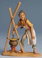 Fontanini 100 229 - Hirt am Lagerfeuer zu 10cm tipo legno