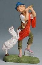 Fontanini 100 241 - Junge mit Schaf zu 10cm coloriert
