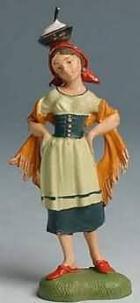 Fontanini 100 182 - Frau mit Tuch zu 10cm coloriert