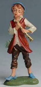 Fontanini 100 143 - Junge mit Flöte zu 10cm coloriert