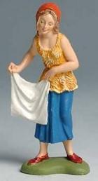 Fontanini 100 138 - Frau mit Tuch zu 10cm coloriert