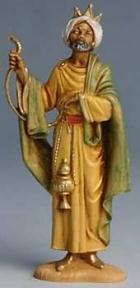 Fontanini 100 006 - König braun stehend zu 10cm tipo legno