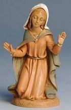 Fontanini 100 002 - Maria kniend zu 10cm tipo legno