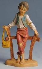 Fontanini 100 118 - Junge am Zaun zu 10cm tipo legno