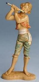 Fontanini 100 135 - Junge mit Flöte zu 10cm tipo legno
