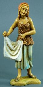 Fontanini 100 138 - Frau mit Tuch zu 10cm tipo legno