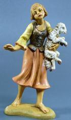 Fontanini 100 139 - Frau mit Lamm zu 10cm tipo legno
