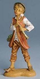 Fontanini 100 143 - Junge mit Flöte zu 10cm tipo legno