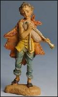 Fontanini 100 162 - Junge mit Dudelsack  zu 10cm tipo legno