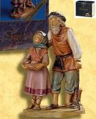 "Fontanini 120 266 (lim) - ""Abigail & Peter"" zu 12cm tipo legno"