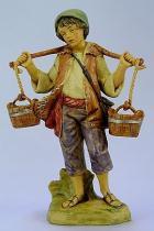 Fontanini 120 102 - Junge mit Eimern zu 12cm tipo legno