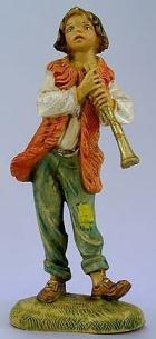 Fontanini 120 116V - Junge mit Flöte zu 12cm tipo legno