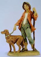 Fontanini 120 120V - Junge mit Hund zu 12cm tipo legno