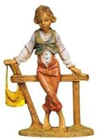 Fontanini 120 121V - Junge am Zaun zu 12cm tipo legno
