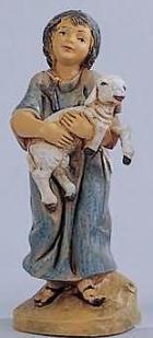 Fontanini 120 121 - Junge mit Schaf zu 12cm tipo legno