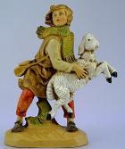 Fontanini 120 129B - Junge mit Schaf zu 12cm tipo legno