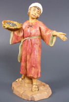 Fontanini 120 133 - Junge mit Korb zu 12cm tipo legno
