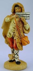 Fontanini 120 143 - Junge mit Panflöte zu 12cm tipo legno