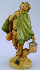 Fontanini 120 144 - Junge mit Laterne zu 12cm tipo legno
