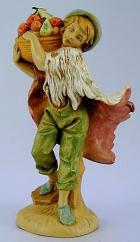 Fontanini 120 145 - Junge mit Früchtekorb zu 12cm tipo legno